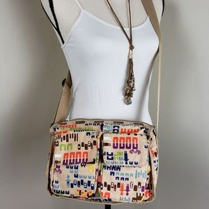 Vintage Lesportsac Tribal Print Crossbody Purse